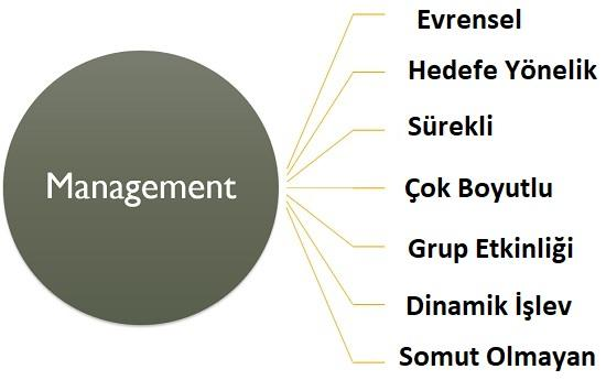 yönetim özellikleri