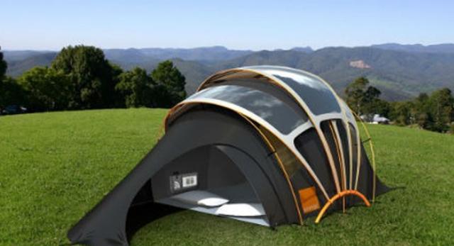 güneş enerjili kamp çadırı